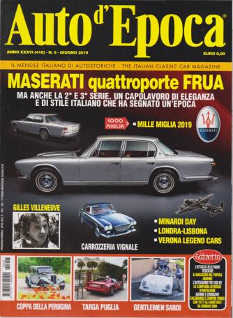 Auto D'epoca - n. 6 - giugno 2019 - mensile