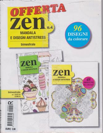 Offerta Zen mandala e disegni antistress - n. 4 - bimestrale - 15/7/2019 - 12/8/2019 - 2 riviste