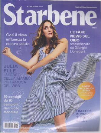 Starbene - n. 31 - 16 luglio 2019 - settimanale
