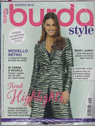 Burda style - + Burda giovane & easy - n. 8 - agosto 2019 - mensile - 2 riviste