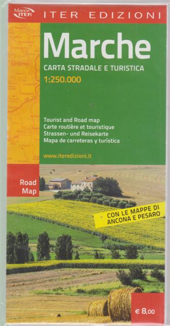 Marche - carta stradale e turistica - 1:250.000 -