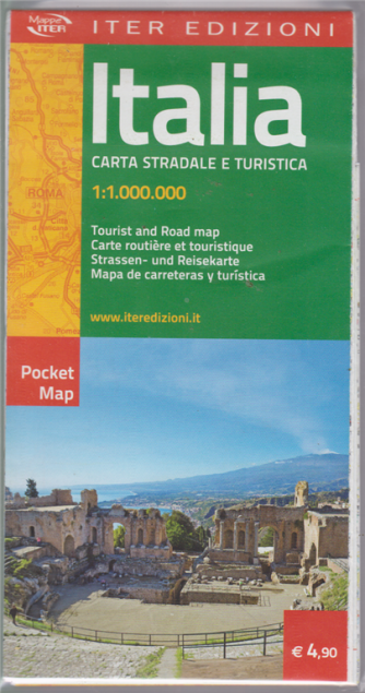 Italia Pocket Map -Carta stradale e turistica 1:1.000.000