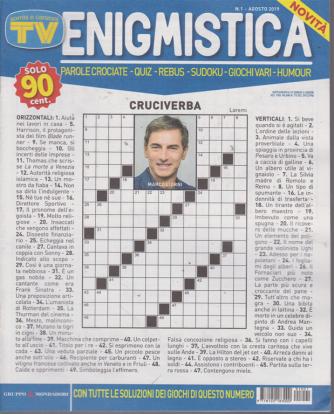 Sorrisi e Canzoni tv enigmistica - n. 1 - agosto 2019 -