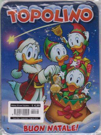 Disney 70 Anni Topolino - Buon Natale - n. 18 - settimanale - 7 agosto 2019 - targa in metallo