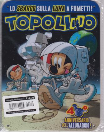 Disney 70 Anni Topolino - 40° Allunaggio - n. 19 - settimanale - 14 agosto 2019 - targa in metallo