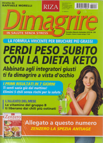 Dimagrire + Zenzero la spezia antiage - n. 209 - mensile - settembre 2019 - 2 riviste