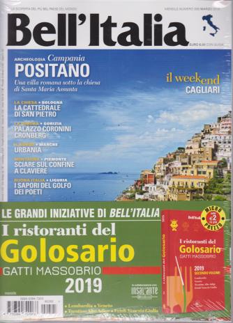 Bell'italia + Il libro I ristoranti  del Golosario 2019 - n. 395 - marzo 2019 - mensile