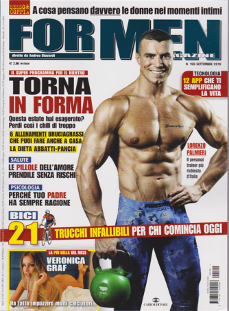 For Men Magazine - n. 199 - settembre 2019 - mensile