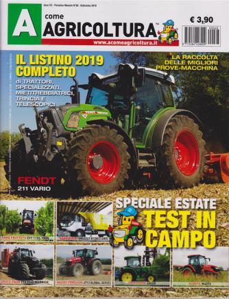 A Come Agricoltura - n. 68 - mensile - settembre 2019