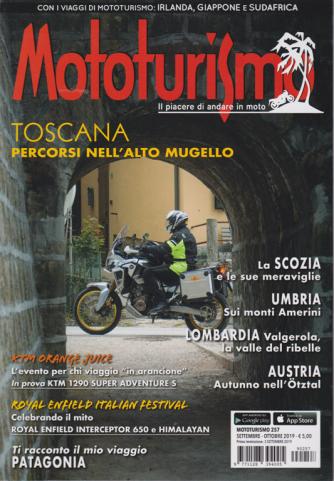 Mototurismo -n. 257 - settembre - ottobre 2019 - bimestrale