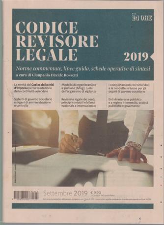 Codice revisore legale -mensile - settembre 2019