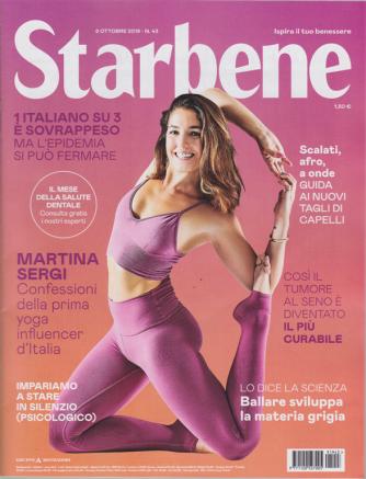 Starbene - n. 43 - 8 ottobre 2019 - settimanale