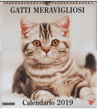 Calendario 2019 Gatti Meravigliosi - cm.27x30 con spirale