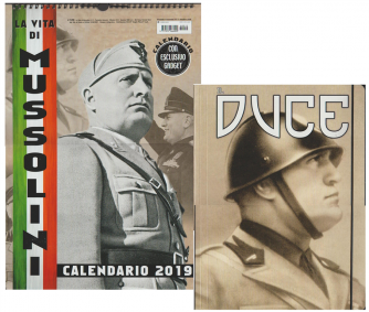 "Calendario 2019 ""La Vita di Mussolini"" cm.29x42 c/spirale + cartelletta"