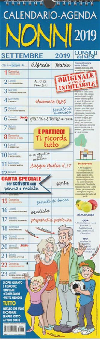 """Calendario-Agenda 2019 """"Nonni"""" cm. 15x50 con spirale"""