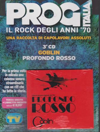 Grandi Raccolte Musicali - n. 3 - Prog Italia il rock degli anni '70 - 3° cd - Goblin profondo rosso - settimanale