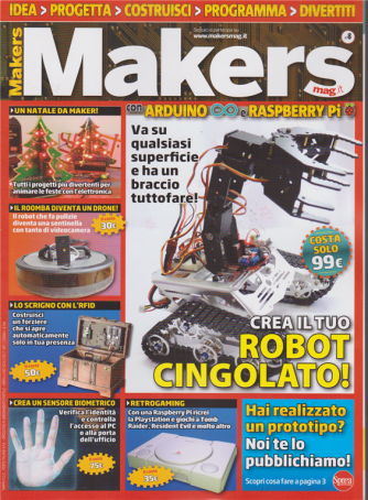 Makers mag - bimestrale- n. 8 - dicembre - gennaio 2019