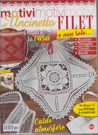 Motivi all'uncinetto - Filet e non solo....n. 32 - bimestrale - dicembre - gennaio 2019 - 2 riviste