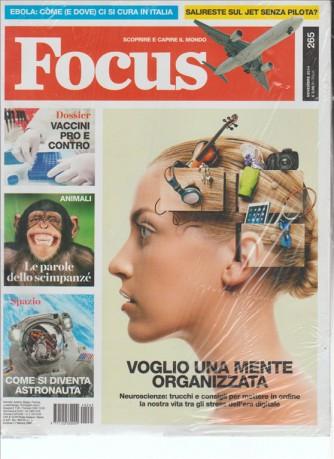 """FOCUS """"Scoprire e capire il mondo"""" Mensile n.265 Novembre 2014"""