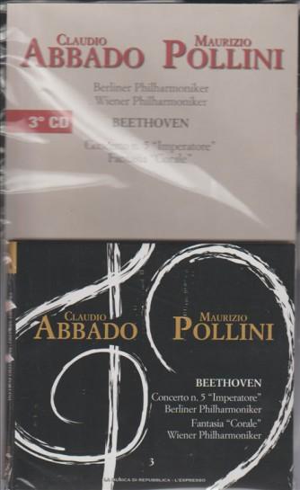 """C.Abbado & M.Pollini - BEETHOVEN concerto n. """"Imperatore""""-fantasia """"Corale"""""""