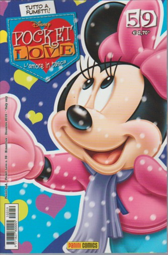 "Pocket Love Disney n. 59 ""l'amore in tasca"" Totto a fumetti!  Panini Comics"