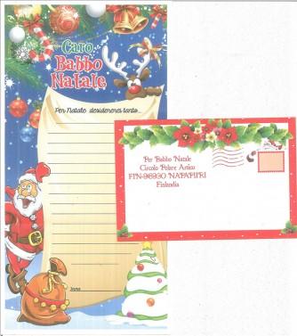 Letterina a Babbo Natale con busta
