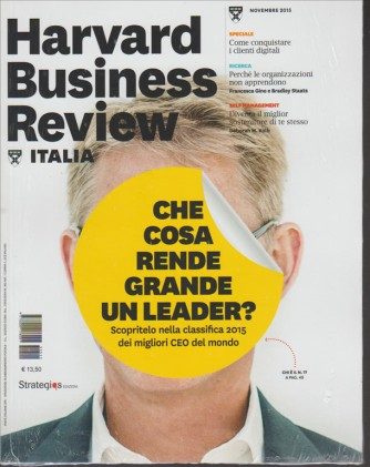 Harward Business Review Italia - mensile n. 11 Novembre 2015
