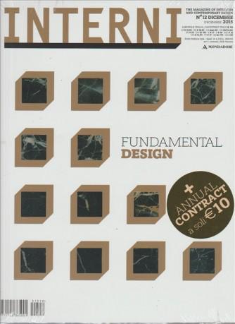 INTERNI Arredamento e Design contemporaneo - mensile n.12 Dicembre 2015