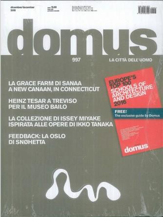 DOMUS la città dell'uomo - mensile n. 997 Dicembre 2015