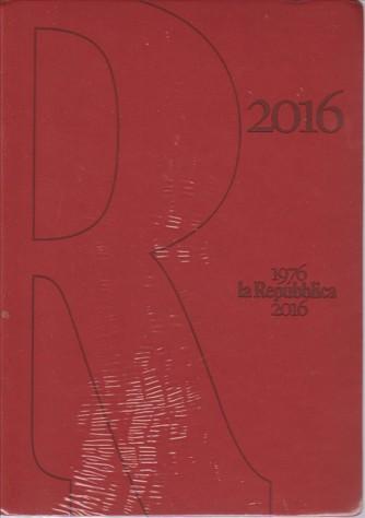 Agenda 2016 de La REPUBBLICA - cm. 15 x 21