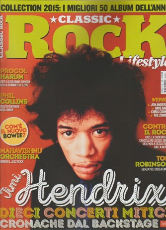 CLASSIC ROCK Lifestyle - mensile n.38 Gennaio 2015 - Jimi Hendrix