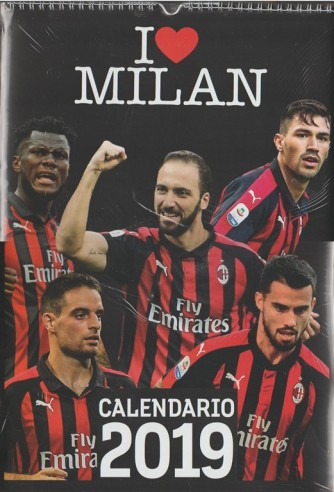 Calendario 2019 - I Love Milan - cm. 29x42 con spirale