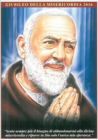 Poster Padre PIo cm. 24,5x34,5 - Giubileo Misericordia 2016