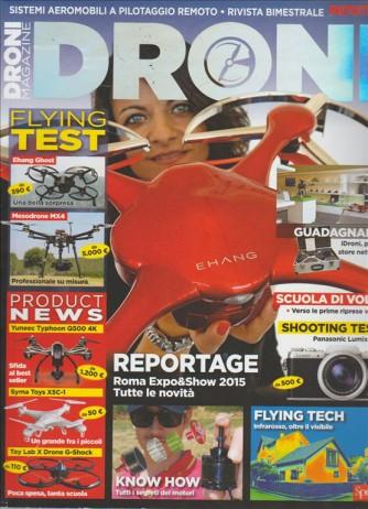 DRONI MAGAZINE.  N. 2. SISTEMI AEROMOBILI A PILOTAGGIO REMOTO. RIVISTA BIMESTRALE