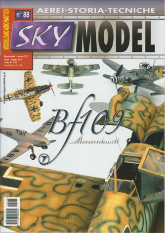 SKY MODEL. N. 88 MODELLISMO AERONAUTICO.  AEREI  STORIA  TECNICHE. APRILE MAGGIO 2016
