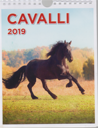 Calendario cavalli 2019 - Pocket - n. 3 - bimestrale - 6 novembre 2018