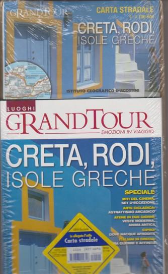 LUOGHI GRANDTOUR. EMOZIONI IN VIAGGIO. CRETA, RODI, ISOLE GRECHE. CARTA STRADALE. N.2