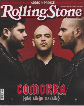 ROLLING STONE.  N. 5 2016 . GOMORRA PURO SANGUE ITALIANO