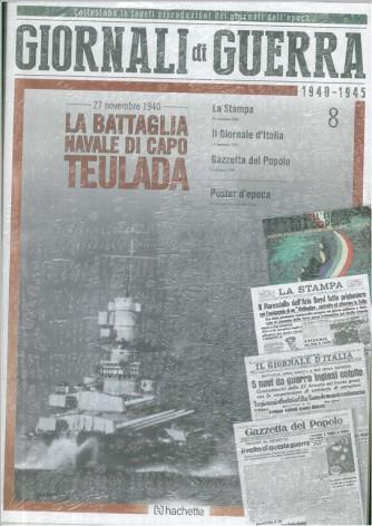 GIORNALI DI GUERRA 1940 - 1945 - N.8 - LA BATTAGLIANAVALE DI CAPO TEULADA