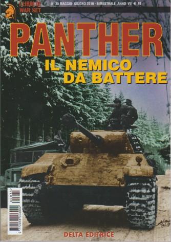 I LIBRI DI WAR SET. N. 35 MAGGIO/GIUGNO 2016. PANTHER IL NEMICO DA BATTERE. BIMESTRALE.
