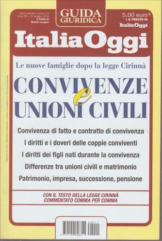 GUIDA GIURIDICA ITALIA OGGI. N. 11. 14 MAGGIO 2016. CONVIVENZE E UNIONI CIVILI.