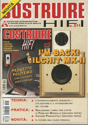 Costruire Hi-Fi - mensile n. 211 Novembre 2016