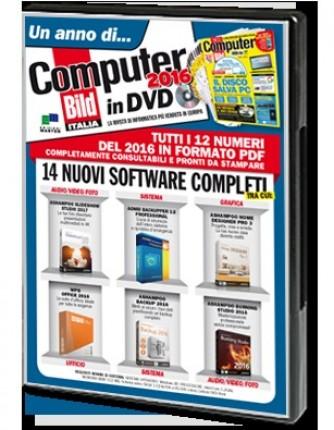 Un anno di Computer Bild in DVD 2016 N° 1 12 RIVISTE IN FORMATO PDF