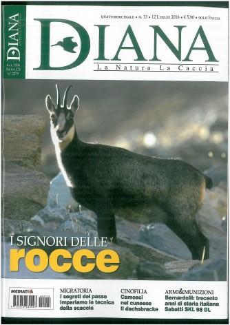 Diana - La Natura  La Caccia - Quindicinale n. 13 - 12 Luglio 2016