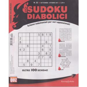 Solo sudoku diabolici - n. 32 -settembre - ottobre   2021- trimestrale