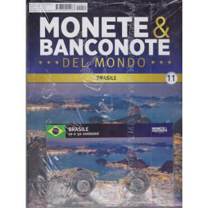 Monete e banconote del mondo uscita 11 - Brasile  - 10 e 50 centesimi -   settimanale - 14/4/2021