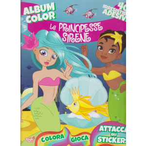 Toys2 Sticker Collection - Album color - Le principesse sirene - n. 36  - bimestrale - 25 marzo 2021