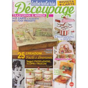 Laboratorio di Decoupage - rivista + carte - n. 4 - bimestrale - marzo 2021