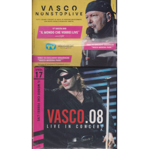 Grandi Raccolte Musicali n. 17  -Vasco nonstoplive -    Il mondo che vorrei live  - Vasco . 08 live in concert - 17 uscita - 28/9/2021 - -