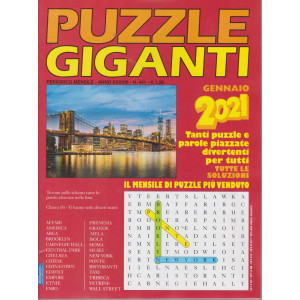 Puzzle Giganti - n. 441 - mensile - gennaio 2021